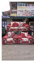 Brown five Seater couch