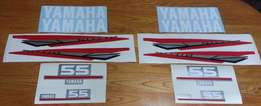 Yamaha 55 HP two stroke outboard motor cowl decals sticker kits