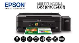 Epson L455 Wireless Inkjet Printer, Scanner & Copy (New)