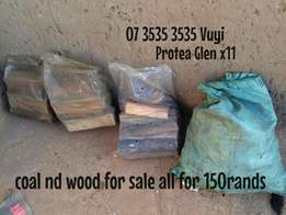Left over 70 coal R70- 3 plastic woods for sale Soweto Protea glen
