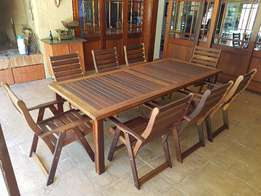8 Seat solid wood patio set in perfect condition