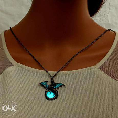Game Of Thrones Luminous Dragon Chain Pendant Necklace Gothic Vintage Nairobi CBD - image 7