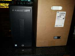 HP 280 G1 Core Intel Core i3 Microtower PC plus screen and printer