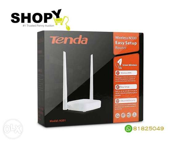 Tenda Easy Setup Wireless Router IEEE 802.11n 300Mbps 2.4GHz