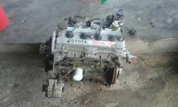 1.6 toyota corrola 16 valve engine and gear 5 speed gearbox.