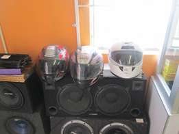 Different Type Of Motor Bike Helmets In Good Condition