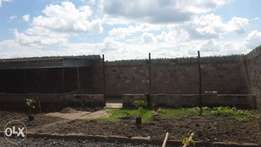 2 adjacent plots (40x80) with perimeter wall