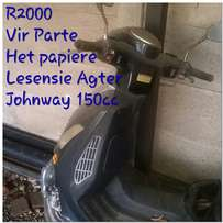Johnway 150cc schooter for spears.