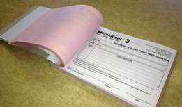Order Receipts sales forms for your business,We deliver within town