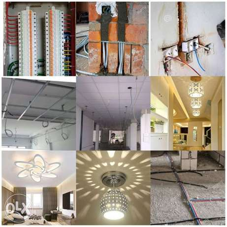 Electrical and plumbing and painting and tiles
