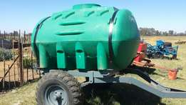 2500 L water bowser trailers