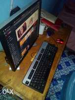 "Hp desktop Intel processor, 2.6ghz, 4GB RAM 150GB harddisk, 19"" monito"