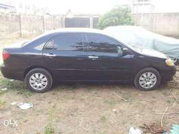 Toyota Corolla S, black colour with ash interior, 2003 model with CD