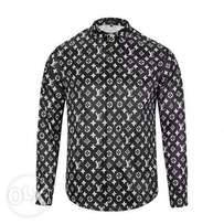 Lv All Over Paisely Shirt | Black