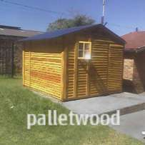 Toolshed from wood