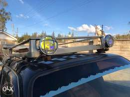 Aluminium light weight roof rack. universal fit for any 4x4 roof