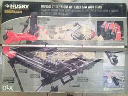 Husky 7 wet tile/stone saw with laser