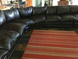 9 seater Leather-upper lounge suite