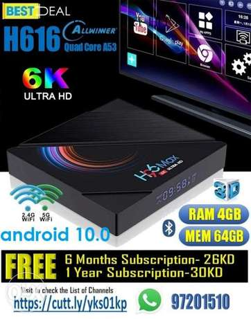 All New 2021-Smart TV/ Android Box- H96 Max- 4gb/ 64gb/ 2 wifi/ Blth