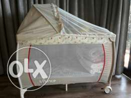 Camp cot with mozzie net and changing station - price drop
