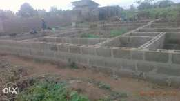 plot of land with 2 Nos 2 bedrooms on it at atan ogun state