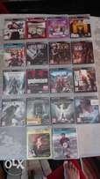 Ps3 console for sale with 18 games