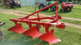 New heavy duty 3 furrow beam plough straight from the importers