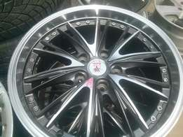alloy rim and tyres