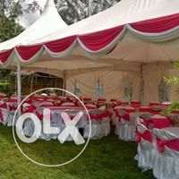 we hire tents,tables,chairs and decor