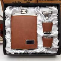 Whisky Flask Gift Set