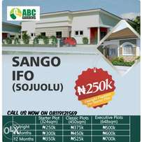 Plots of land available for sale in Sango ifo,
