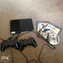 Play station 2 with 6 games