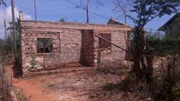 Kilifi kiwandani unfinished house of 2room with barcon size of each ro