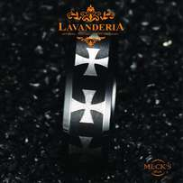 stainless steel with cross male rings