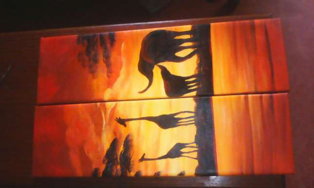 African geographical paint Gachie - image 1