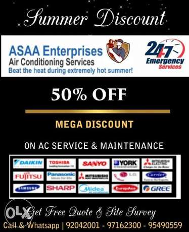 Summer Special Offer 50 % Discount on Air Conditioning Servicing