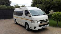 14 seater Toyota Quantum GL. was used for corporate shuttle/R109999