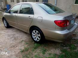 Few months used Toyota corolla 2007