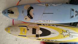 2 Wind surf boards without sails
