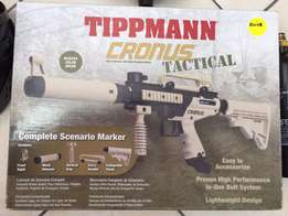 Tippmann Cronus Tactical paintball gun and accessories