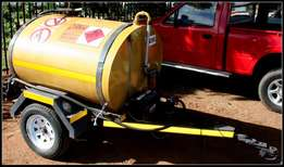 galvanizes,road worthy and approved trailers for water or diesel