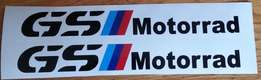 Pair of GS Motorrad decals