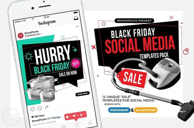 i will design your social media & olx post (template) (banner)