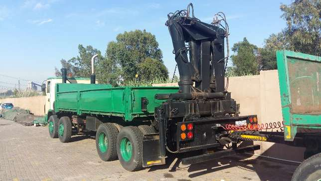 ERF crane truck with 8500kg working crane and a 12 ton drawbar trailer Germiston - image 1