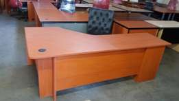 Cherry-wood Office Deskwith three(3) drawers