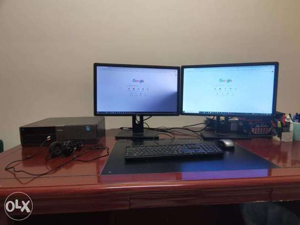 DELL OPTIPLEX 960 PC with duel monitor دخان -  1