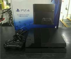 Sony playstation 4 1000 gb console as new includes necessary cables an