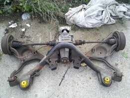 ford sierra complete rear diff,shafts and complete independent suspens