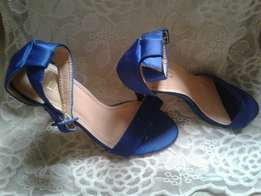 Royal blue party sandals