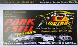LA Motors - We park/sell used cars/taxis/bakkies/SUV's and much more!